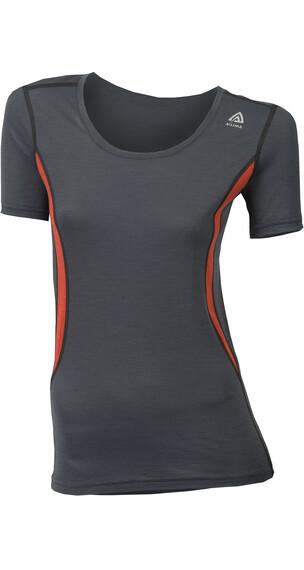 Aclima W's Lightwool T-Shirt Round Neck Iron Gate/Poinciana